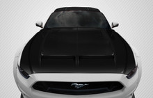 2017 Ford Mustang  Hood-2015-2017 Ford Mustang Carbon Creations GT500 Hood - 1 Piece