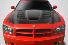 2007 Dodge Charger  Hood-2006-2010 Dodge Charger Carbon Creations DriTech Viper Look Hood - 1 Piece