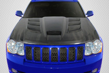 2007 Jeep Grand Cherokee  Hood-2005-2010 Jeep Grand Cherokee Carbon Creations DriTech Viper Look Hood - 1 Piece