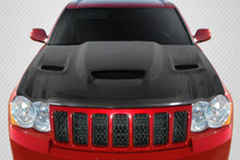 2007 Jeep Grand Cherokee  Hood-2005-2010 Jeep Grand Cherokee Carbon Creations DriTech Hellcat look Hood - 1 Piece