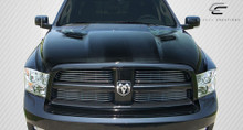 2011 Dodge Ram  Hood-2009-2018 Dodge Ram 1500 Carbon Creations MP-R Hood - 1 Piece