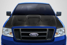 2005 Ford F150  Hood-2004-2008 Ford F-150 / 2006-2008 Lincoln Mark LT Carbon Creations DriTech Shark Hood - 1 Piece