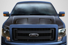 2012 Ford F150  Hood-2009-2014 Ford F-150 Carbon Creations DriTech Ram Air Hood - 1 Piece