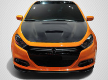 2013 Dodge Dart  Hood-2013-2016 Dodge Dart Carbon Creations DriTech MP-R hood - 1 Piece