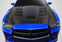 2012 Dodge Charger  Hood-2011-2014 Dodge Charger Carbon Creations DriTech Viper Look Hood - 1 Piece