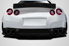 2013 Nissan GTR  Rear Lip/Add On-2009-2016 Nissan GT-R R35 Carbon Creations LBW Rear Diffuser / Splitters - 3 Piece