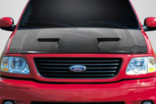 2002 Ford F150  Hood-1997-2003 Ford F-150 / F-250 / 1997-2002 Ford Expedition Carbon Creations CVX Version 3 Hood - 1 Piece