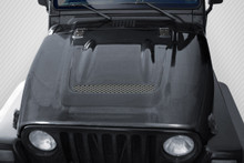 2006 Jeep Wrangler  Hood-1997-2006 Jeep Wrangler Carbon Creations Heat Reduction Hood (fits all models without highline fenders) - 1 Piece
