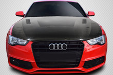 2014 Audi A5  Hood-2013-2016 Audi A5 Carbon Creations DriTech Eros Version 1 Hood - 1 Piece