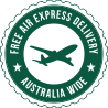 Free express delivery on all orders to Australia and New Zealand
