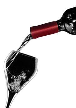 Wine Collars by Qyze | Wedding Favor | Burgundy Satin Wine Accessories