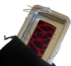 Wine Collars by Qyze | Designer wine accessories | Red Leopard Wine Collar