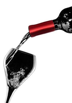 Wine Collars by Qyze | Wedding Favor | Red Satin Wine Accessories