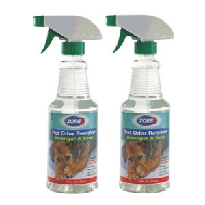 Eliminate pet odors instantly with ZORBX 16 oz. Pet Odor Remover value pack