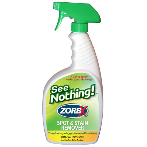 Eliminate stains with ZORBX 24 oz. See Nothing stain remover