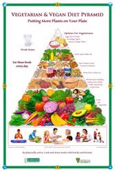 Oldways Vegetarian & Vegan Diet Pyramid Poster