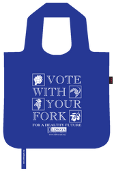 Oldways vote with your fork bag in blue