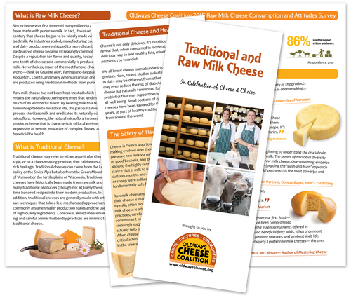 Traditional and Raw Milk Cheese Trifold Brochure