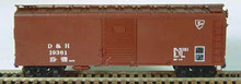 Bowser HO 40 Foot Box Cars (Single Door) KIT  D & H  3-1120 OL 1