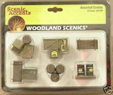 O-Scale Woodland Scenics Assorted Crates  OL 1