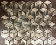 Longwin Aluminum Diamond Cube Mosaic Bronze