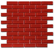 GT Glass Crystile 1 x 3 Brick Formation Ruby Red C12-2