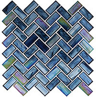 GT Glass Oceania Herringbone Cobalt Sea OCS-182