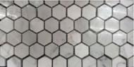 Milstone Collage Mediterranean Bianco Carrara 1 x 1 Hexagon Honed Mosaic