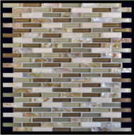 Milstone Collage Mediterranean Brown Naomi .4 x 1.65 Mosaic