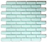 GT Glass Crystile 1 x 3 Brick Formation Ice Mist Glossy C01-2