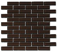 GT Glass Crystile 1 x 3 Brick Formation Chocolate C05-2