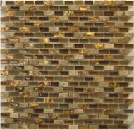 Milstone Collage Mediterranean Brown Yahly .4 x .8 Mosaic