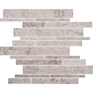 Daltile Limestone 12 x 15 Siberian Tundra Random Linear Mosaic 3/8 Honed L701RDMMS1U