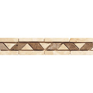 Daltile Stone Decorative 2 x 12 Walnut Rope Border TS17212BR1P