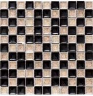 Merola Cristallo Espresso 1 x 1 Mosaic