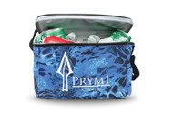 The soft side 6-Count Cooler is made of durable and insulating 600 denier. The cooler will hold 6 can drinks packed with ice. It has a zip around top and a shoulder strap for easy open and carry. Silk-screened logo on front and top.