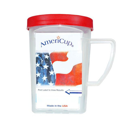 The Ten Panel AmeriCup Drug Test is a self-contained drug testing urinalysis-screening device that can detect the presence of any of the drug metabolites in minutes, using NIDA cutoff levels. The Ten panel AmeriCup is excellent to be used in the workplace, correctional, clinical and at home.