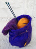 Light-weight multiple-use pouch made of durable rip stop nylon. Your knitting can go wherever you do!