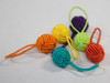 These yarn ball stitch markers are brightly colored so they don't get lost in your knitting, and lightweight so your stitches won't get stretched out.
