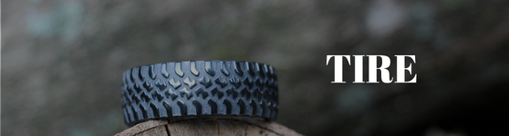 mens wedding bands with tire tread