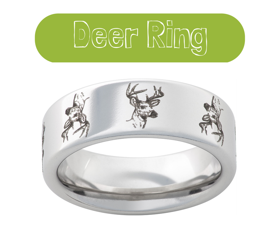 Yes He Can Have 4 Mm Of Real Antler Inlay On His Very Durable And Lightweight Vitalium Band We Guarantee That It Is Genuine Deer
