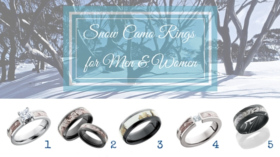 Snow Camo Rings for Men and Women CAMOKIX