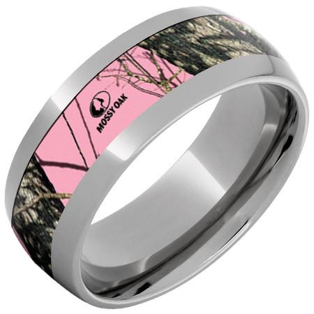 titanium pink camo ring