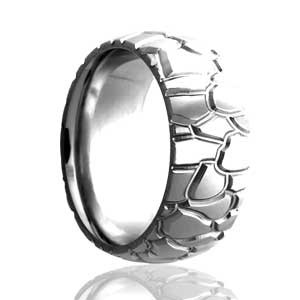 Milled Tire Tread Domed Ring