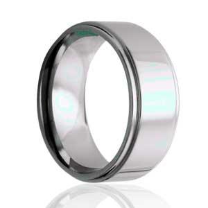 8mm Flat, Step Edge, Polished Ring
