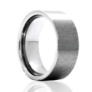 8mm Flat Profile Satin Ring