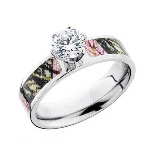 Cz Mossy Oak Camo Engagement Ring