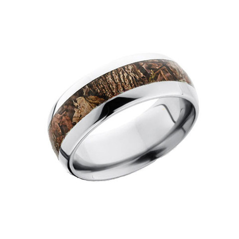 8mm Camo Ring  - Domed