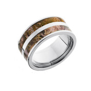 Wide Double Band Camo Ring