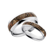 Domed Camo Ring His and Hers